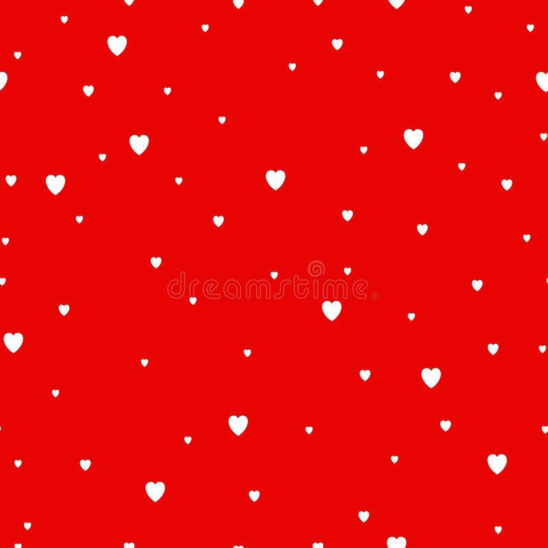 Κόκκινο άνευ ραφής σχέδιο υποβάθρου καρδιών επίσης corel σύρετε το διάνυσμα απεικόνισης ελεύθερη απεικόνιση δικαιώματος