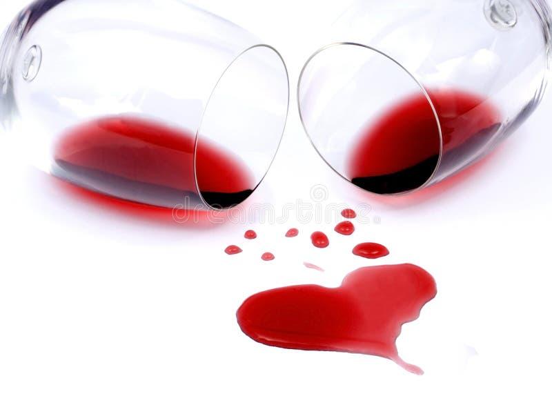 κόκκινο άσπρο κρασί ανασκό στοκ φωτογραφίες με δικαίωμα ελεύθερης χρήσης