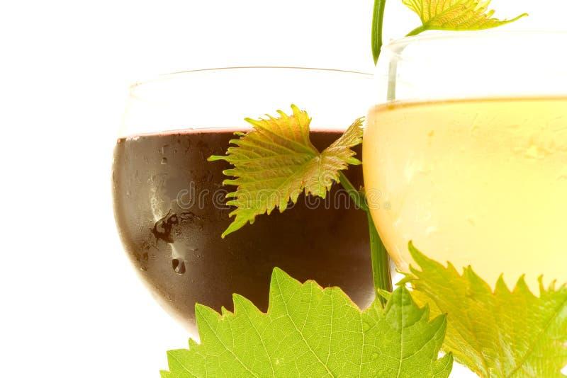 κόκκινο άσπρο κρασί γυαλ&i στοκ φωτογραφία με δικαίωμα ελεύθερης χρήσης