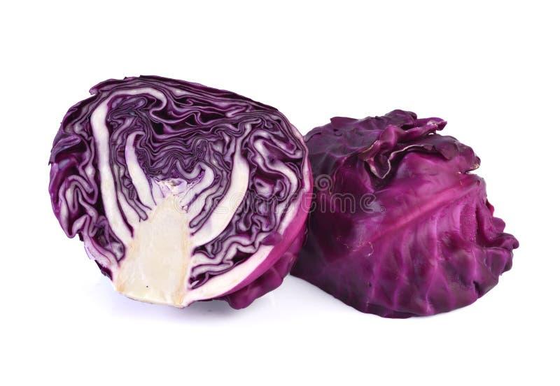 Κόκκινο λάχανο που απομονώνεται στο άσπρο υπόβαθρο στοκ εικόνες