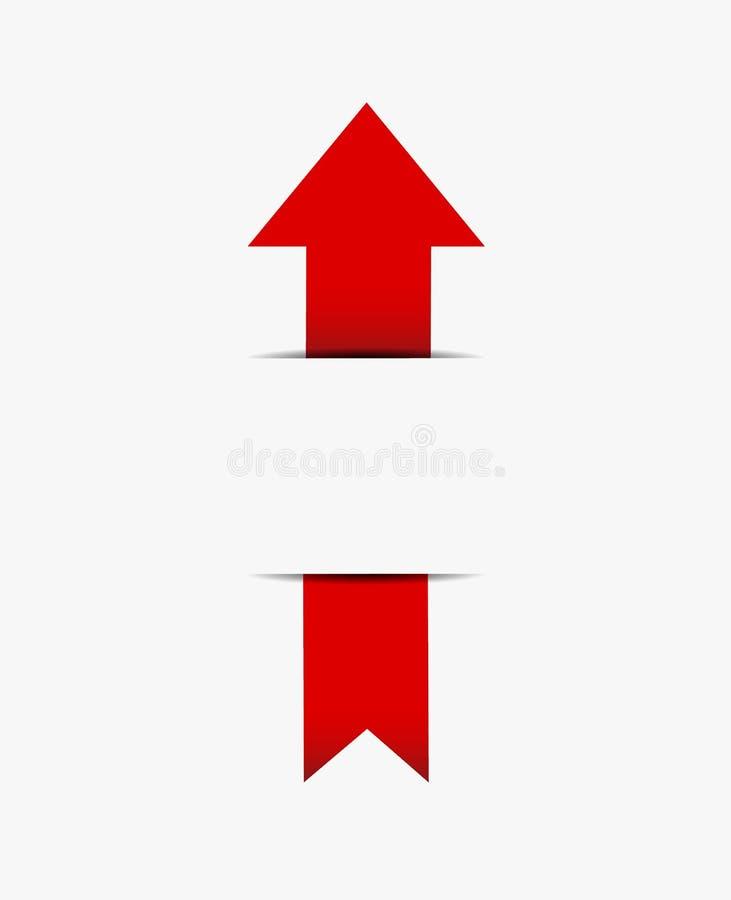 Κόκκινο ένθετο βελών στο έγγραφο διανυσματική απεικόνιση