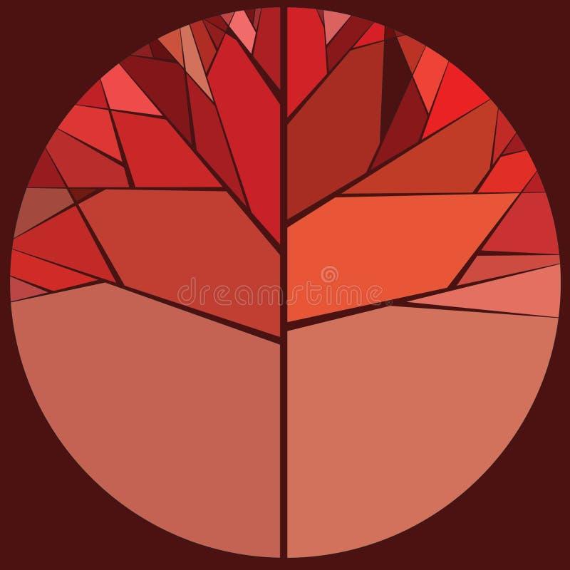 Κόκκινο δέντρο φθινοπώρου στοκ φωτογραφίες