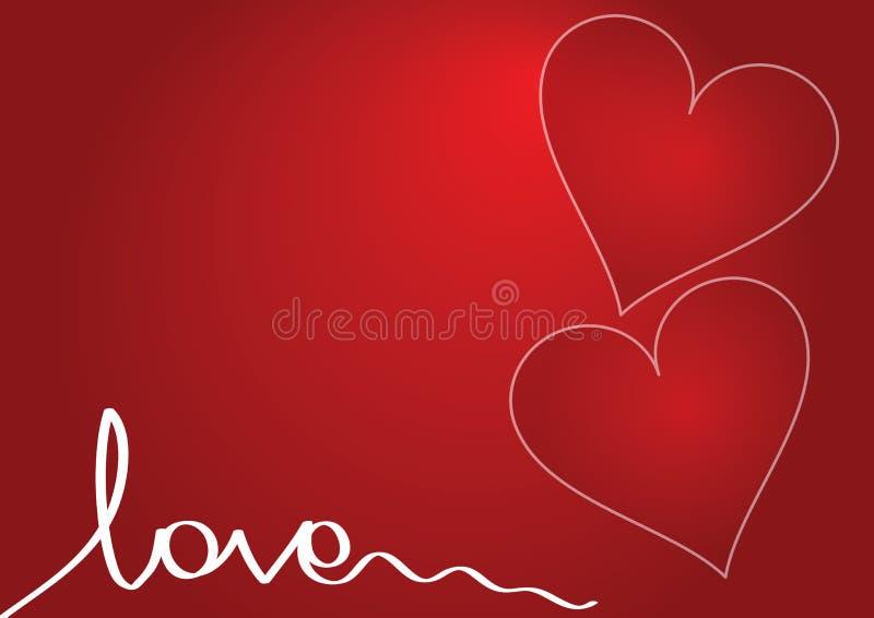 κόκκινο αγάπης ανασκόπησης διανυσματική απεικόνιση