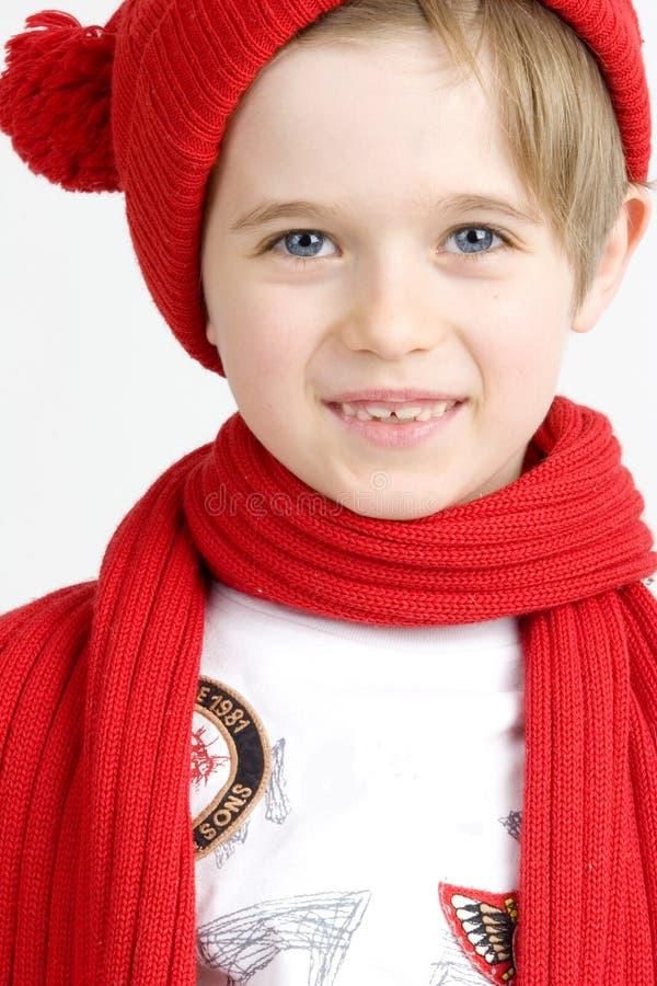 κόκκινο αγοριών ΚΑΠ στοκ εικόνα