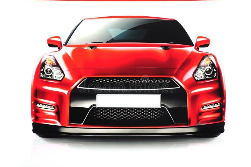 Κόκκινο αθλητικό αυτοκίνητο διανυσματική απεικόνιση
