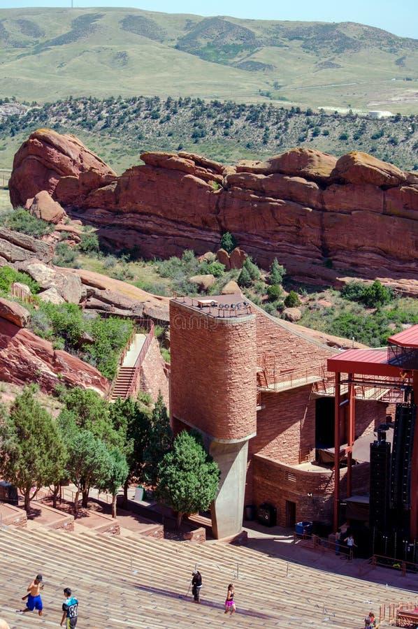 Κόκκινο αμφιθέατρο βράχων στοκ φωτογραφίες