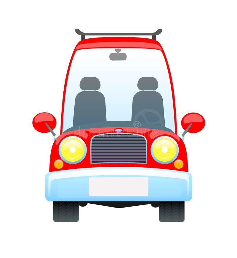 Κόκκινο αναδρομικό αυτοκίνητο απεικόνιση αποθεμάτων