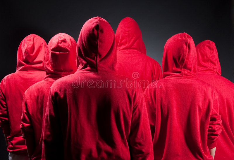 κόκκινο ανθρώπων ενδυμάτω&n στοκ φωτογραφία με δικαίωμα ελεύθερης χρήσης