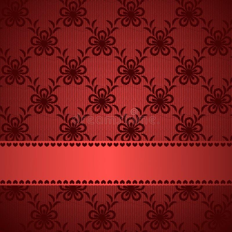Κόκκινο δαντελλωτός υπόβαθρο απεικόνιση αποθεμάτων