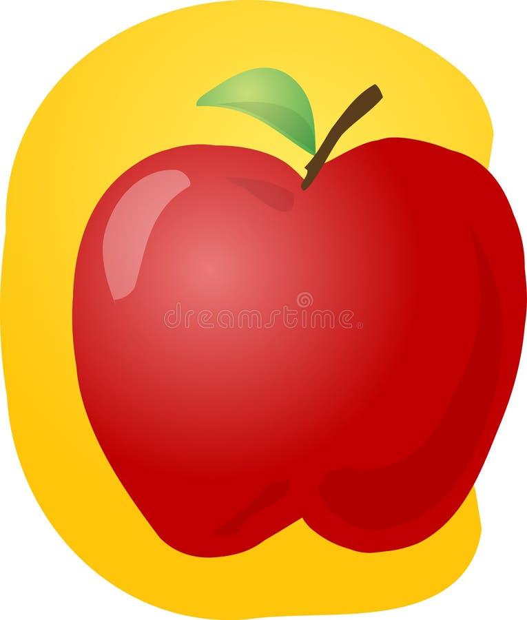 κόκκινο απεικόνισης μήλων διανυσματική απεικόνιση