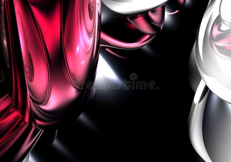 κόκκινο ασημένιο καλώδιο 01 διανυσματική απεικόνιση