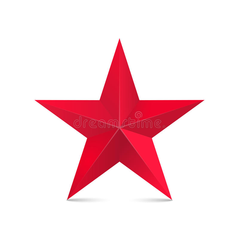 Κόκκινο αστέρι τρισδιάστατο απεικόνιση αποθεμάτων