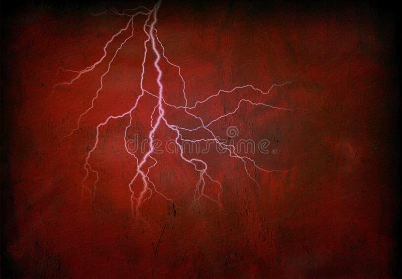 κόκκινο αστραπής απεικόνιση αποθεμάτων