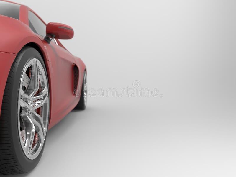 Κόκκινο αυτοκίνητο στοκ εικόνες με δικαίωμα ελεύθερης χρήσης