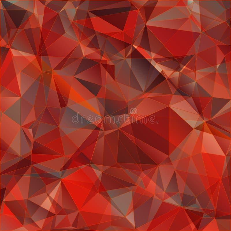 Κόκκινο αφηρημένο υπόβαθρο τριγώνων ελεύθερη απεικόνιση δικαιώματος
