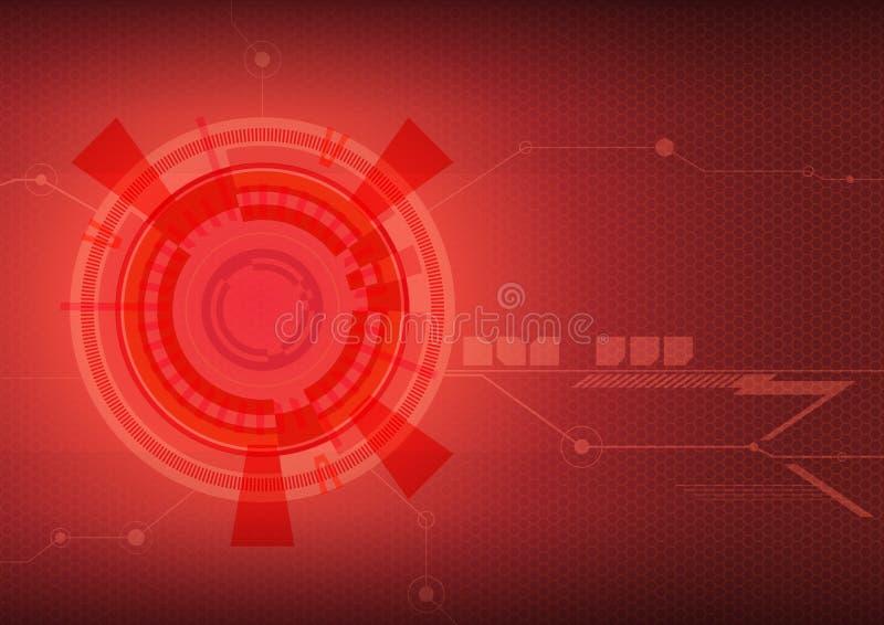 Κόκκινο αφηρημένο υπόβαθρο techno στοκ εικόνα με δικαίωμα ελεύθερης χρήσης