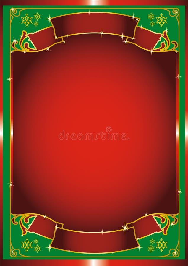 κόκκινο αφισών chrismas απεικόνιση αποθεμάτων