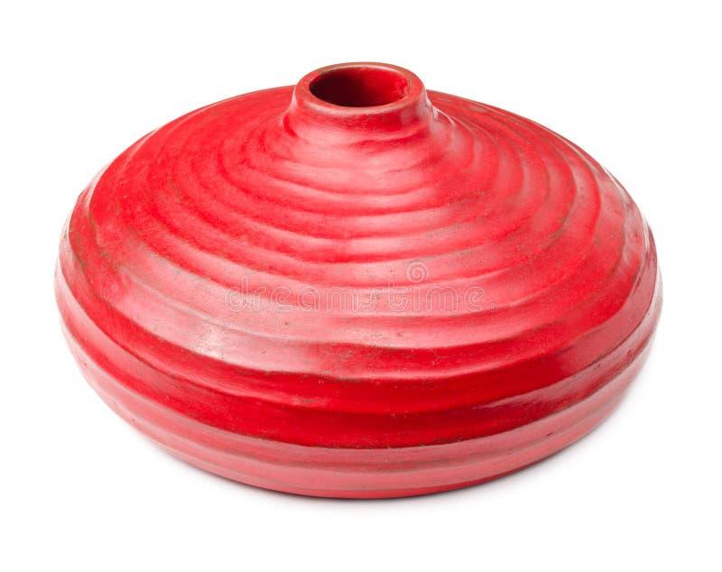 Κόκκινο βάζο αργίλου στοκ φωτογραφία
