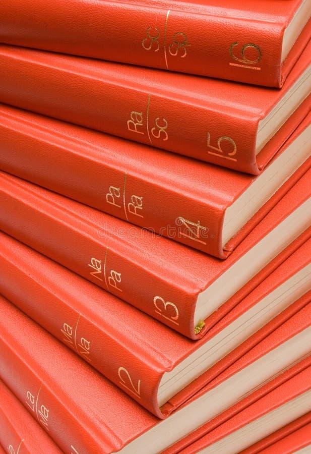 κόκκινο βιβλίων που συσ&si Στοκ φωτογραφία με δικαίωμα ελεύθερης χρήσης