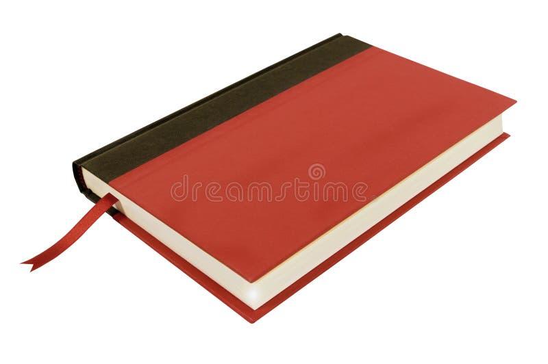 Κόκκινο βιβλίο hardcover, τοπ άποψη σελιδοδεικτών που απομονώνεται στο λευκό στοκ εικόνες με δικαίωμα ελεύθερης χρήσης