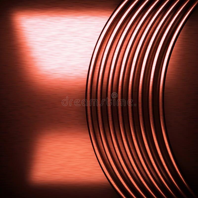Κόκκινο βουρτσισμένο υπόβαθρο μετάλλων στοκ φωτογραφία με δικαίωμα ελεύθερης χρήσης