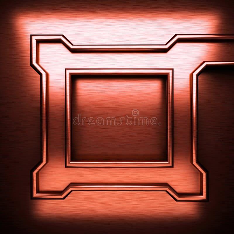 Κόκκινο βουρτσισμένο υπόβαθρο μετάλλων στοκ εικόνες με δικαίωμα ελεύθερης χρήσης