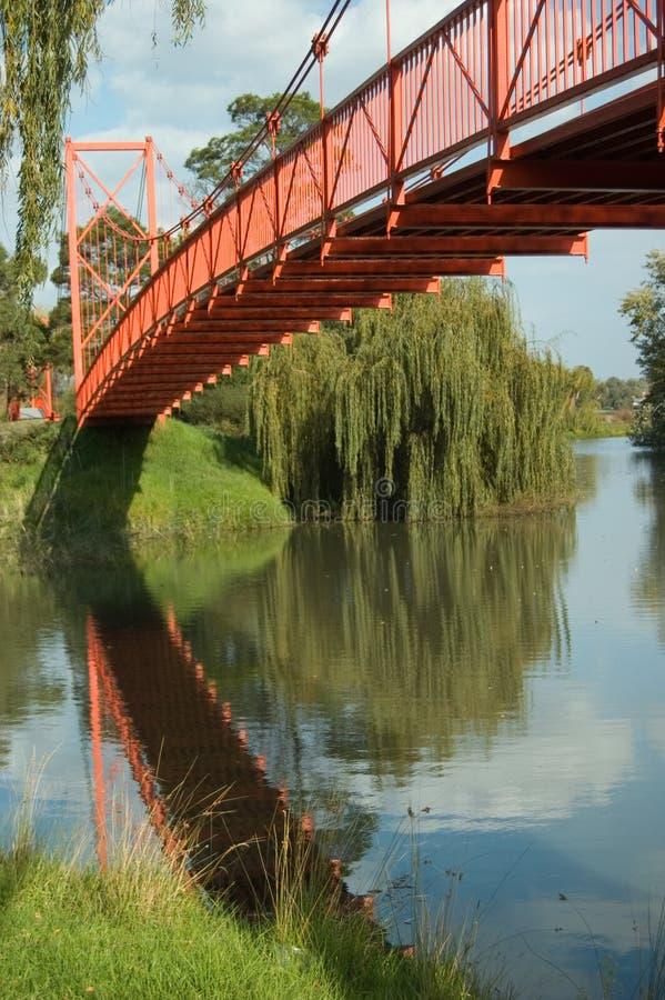 κόκκινο γεφυρών στοκ εικόνα