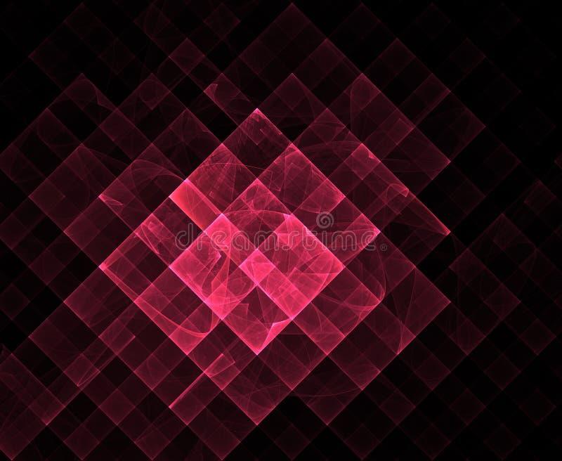 Κόκκινο γεωμετρικό fractal διανυσματική απεικόνιση