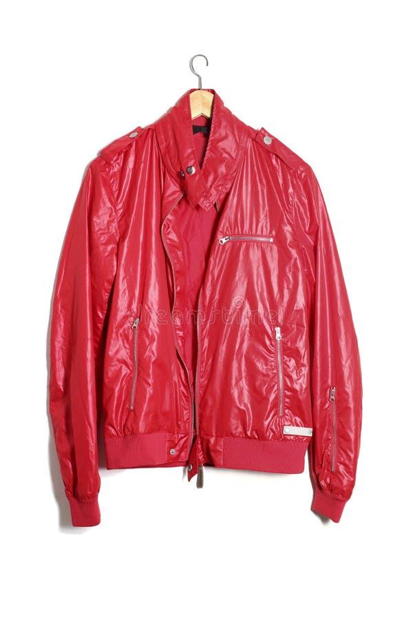 Κόκκινο δερμάτινο μπουφάν στοκ φωτογραφία με δικαίωμα ελεύθερης χρήσης