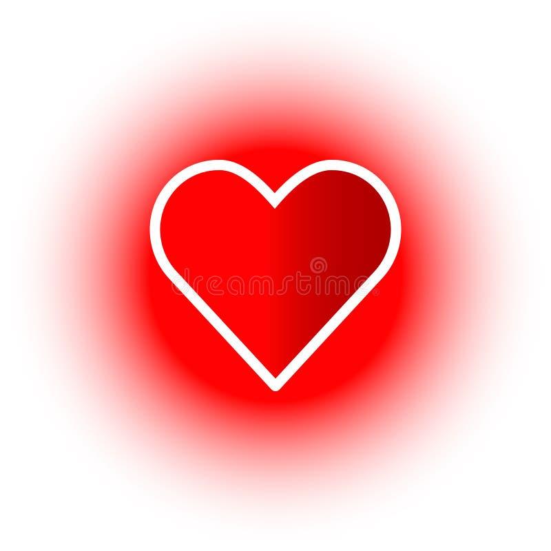 κόκκινο διάνυσμα απεικόνισης εικονιδίων καρδιών διανυσματική απεικόνιση