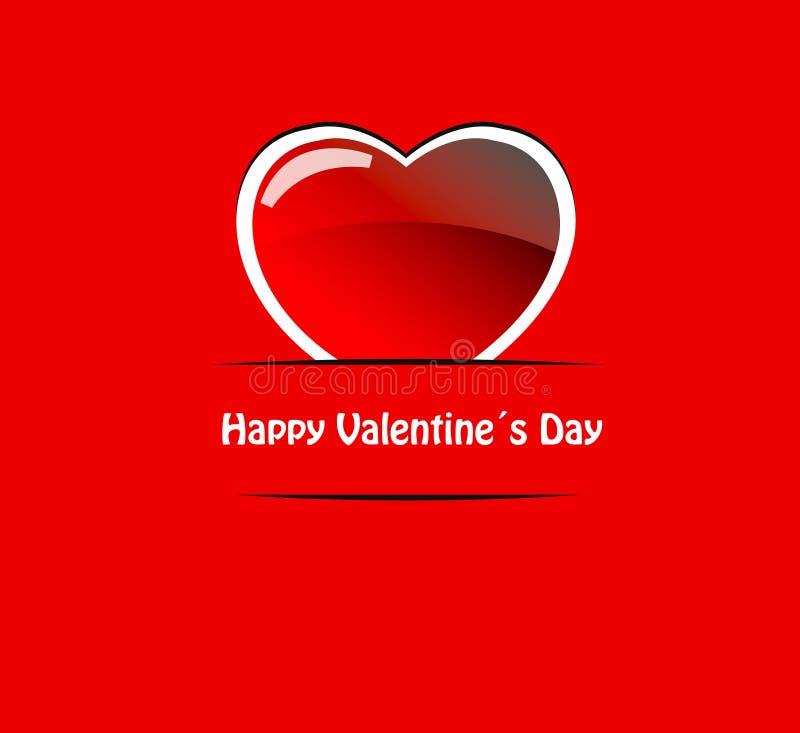 κόκκινο διάνυσμα βαλεντίνων καρδιών ελεύθερη απεικόνιση δικαιώματος