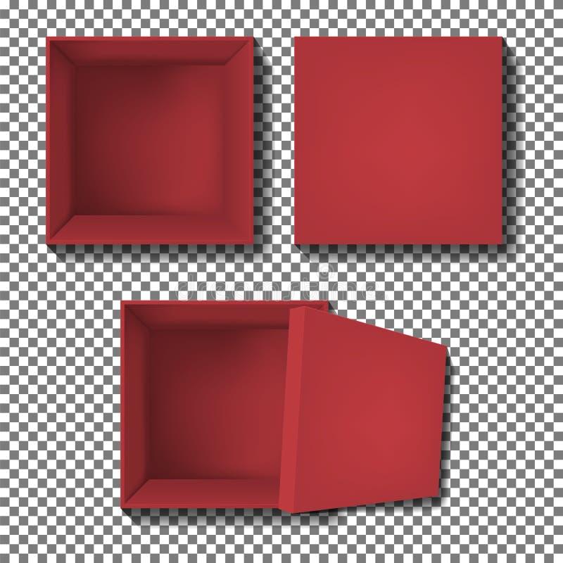Κόκκινο διάνυσμα κιβωτίων απεικόνιση αποθεμάτων
