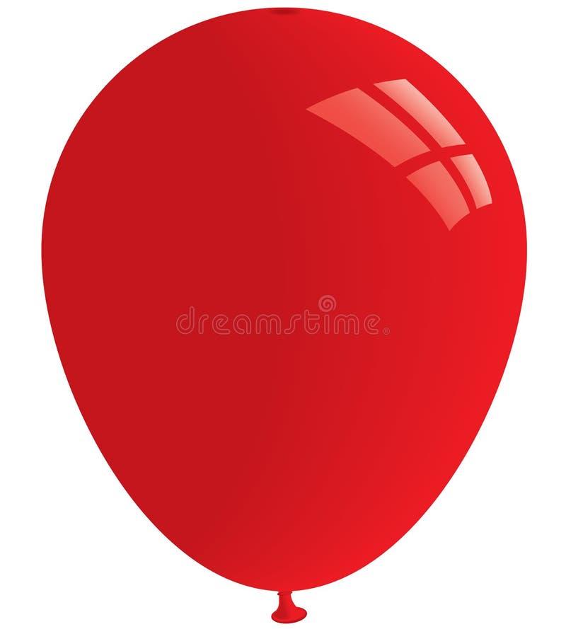 κόκκινο διάνυσμα μπαλονιών απεικόνιση αποθεμάτων