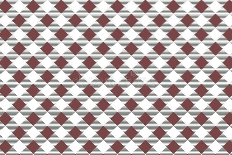 Κόκκινο διαγώνιο Gingham σχέδιο Σύσταση από το ρόμβο/τετράγωνα για - καρό, τραπεζομάντιλα, ενδύματα, πουκάμισα, φορέματα, έγγραφο ελεύθερη απεικόνιση δικαιώματος