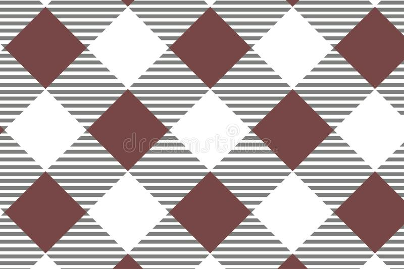 Κόκκινο διαγώνιο Gingham σχέδιο Σύσταση από το ρόμβο/τετράγωνα για - καρό, τραπεζομάντιλα, ενδύματα, πουκάμισα, φορέματα, έγγραφο διανυσματική απεικόνιση