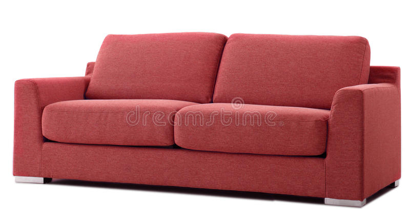 κόκκινο διακοπής καναπέδων στοκ εικόνα