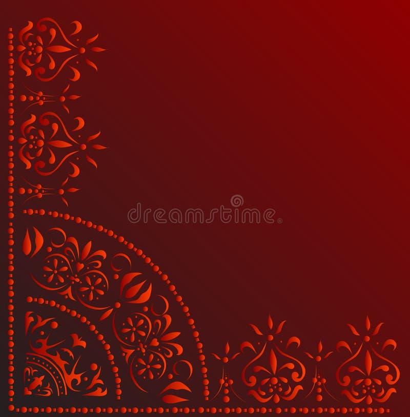 κόκκινο διακοσμήσεων γ&omeg διανυσματική απεικόνιση