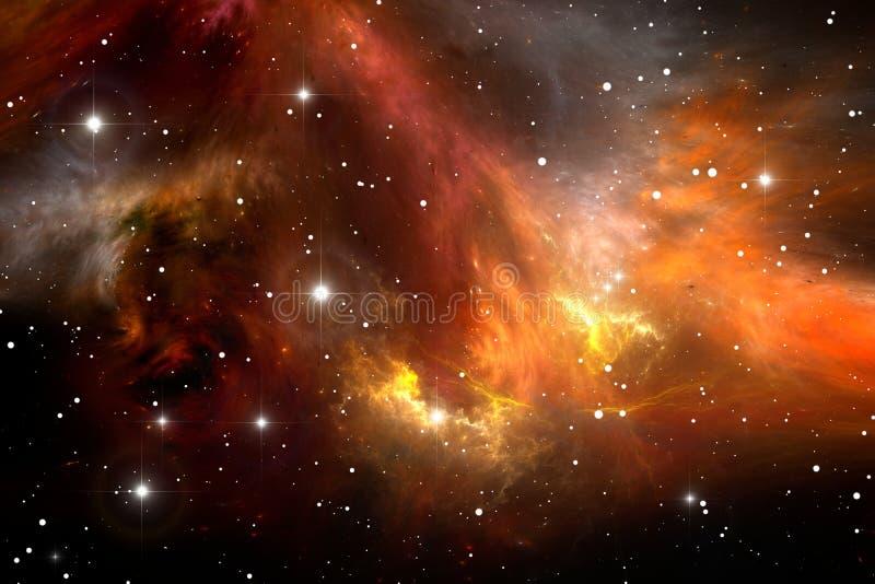 Κόκκινο διαστημικό νεφέλωμα ελεύθερη απεικόνιση δικαιώματος