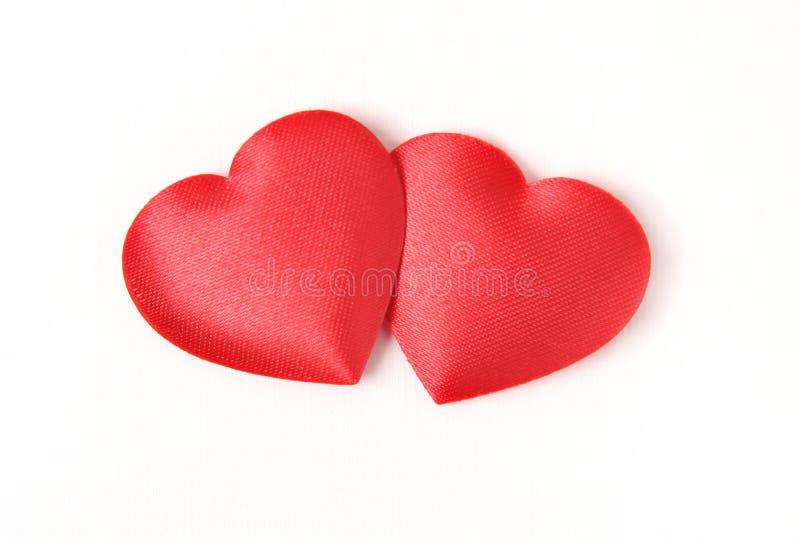 κόκκινο δύο καρδιών στοκ εικόνα με δικαίωμα ελεύθερης χρήσης