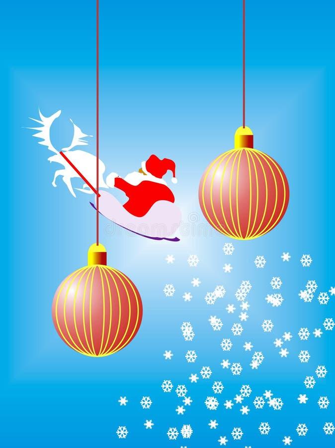κόκκινο δύο Χριστουγέννων σφαιρών απεικόνιση αποθεμάτων