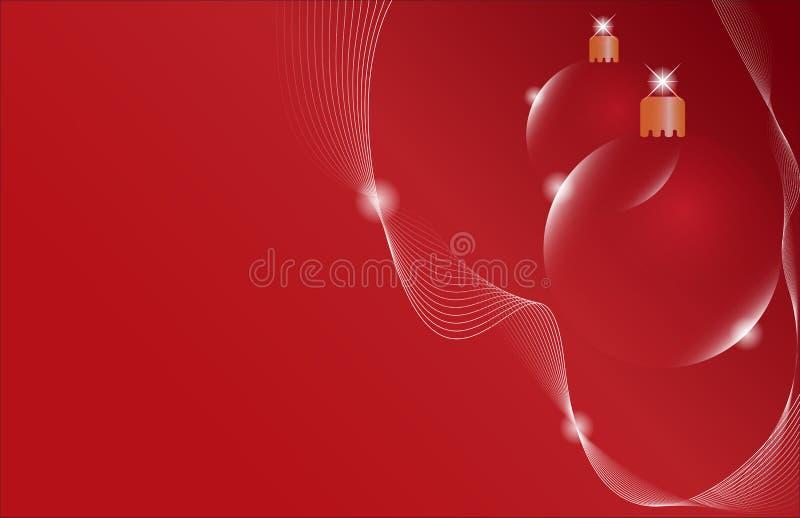 κόκκινο δύο Χριστουγέννω& διανυσματική απεικόνιση