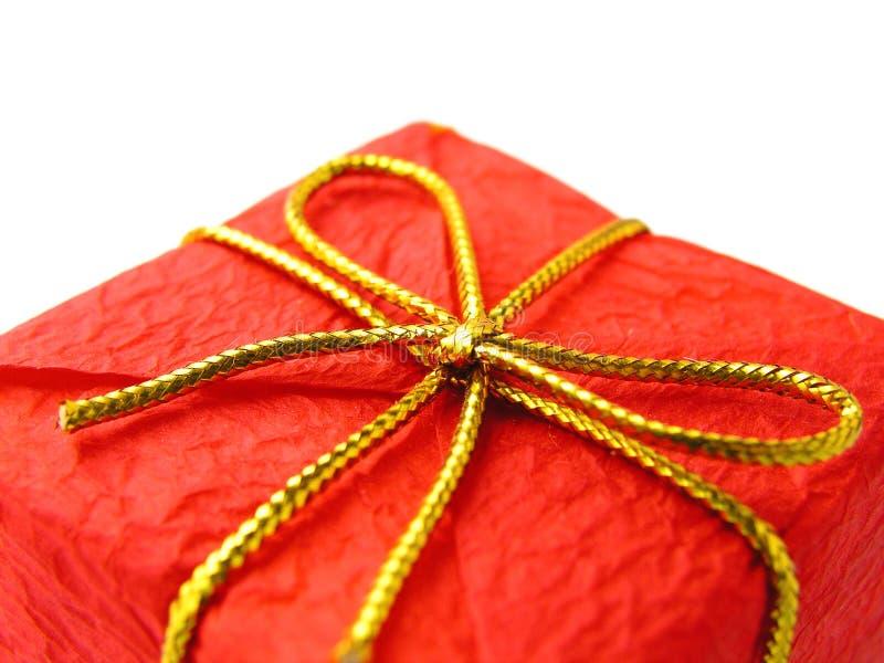 κόκκινο δώρων Χριστουγένν& Στοκ Φωτογραφία