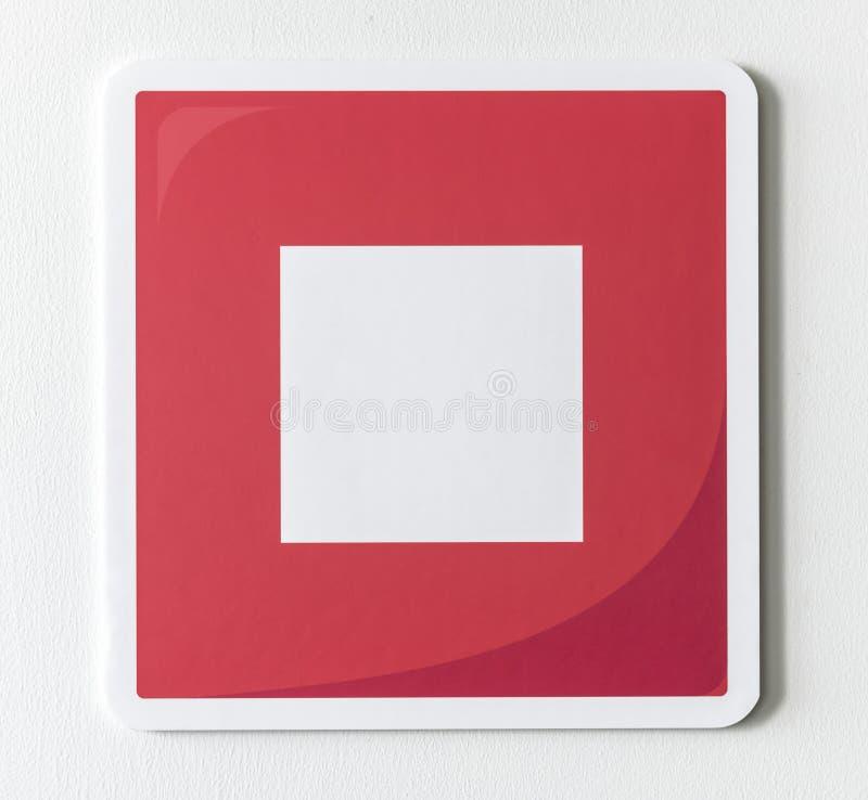 Κόκκινο εικονίδιο μουσικής κουμπιών στάσεων στοκ εικόνες