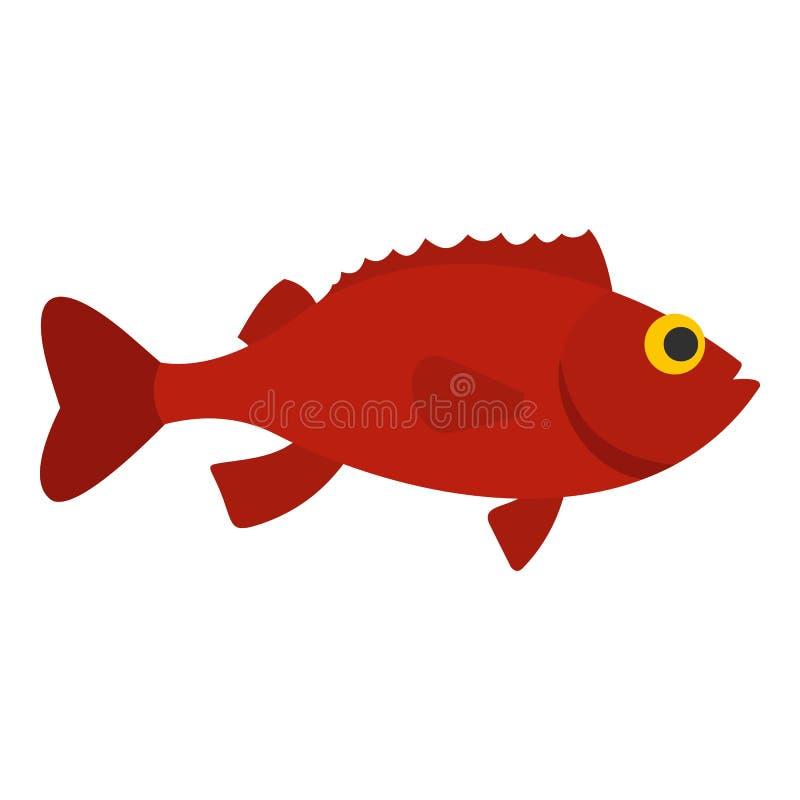 Κόκκινο εικονίδιο ψαριών betta ελεύθερη απεικόνιση δικαιώματος