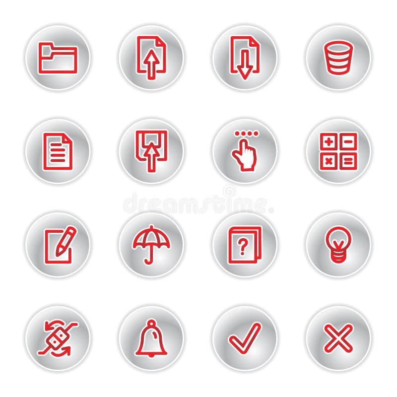 κόκκινο εικονιδίων ημερ&omi απεικόνιση αποθεμάτων