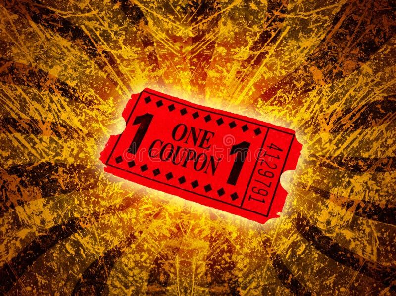κόκκινο εισιτήριο διανυσματική απεικόνιση