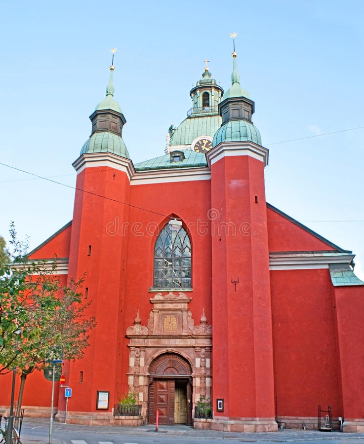 κόκκινο εκκλησιών στοκ εικόνες με δικαίωμα ελεύθερης χρήσης