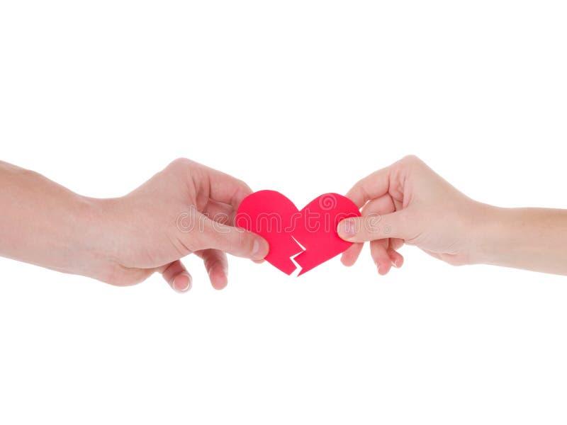 κόκκινο εκμετάλλευση&sigmaf η έννοια της αγάπης, ημέρα βαλεντίνων, σύμβολο και ρομαντικός κόκκινη καρδιά για το δώρο στοκ εικόνες με δικαίωμα ελεύθερης χρήσης