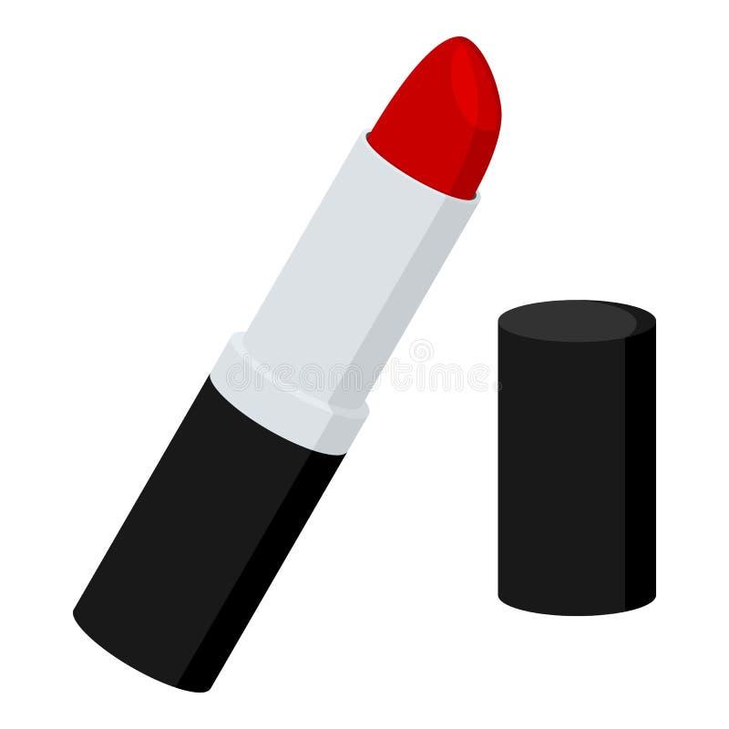 Κόκκινο επίπεδο εικονίδιο κραγιόν που απομονώνεται στο λευκό ελεύθερη απεικόνιση δικαιώματος