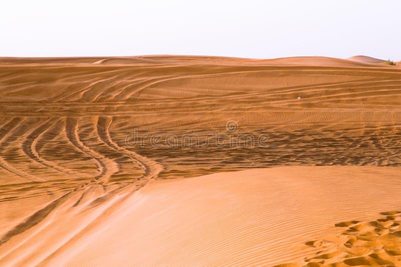 Κόκκινο επιδόρπιο του Ντουμπάι στοκ εικόνα